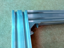 Perfil de aluminio 20 X40   x650mm